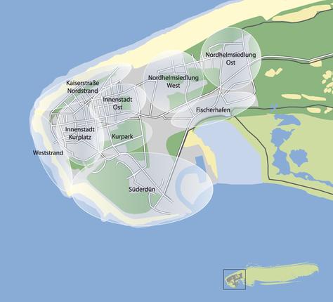 Lageplan von Norderney