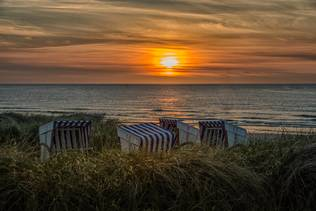 Romantik im Strandkorb auf Norderney